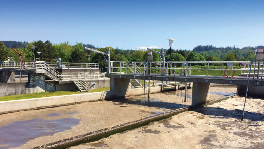 Wastewater Treatment Facility Outdoors