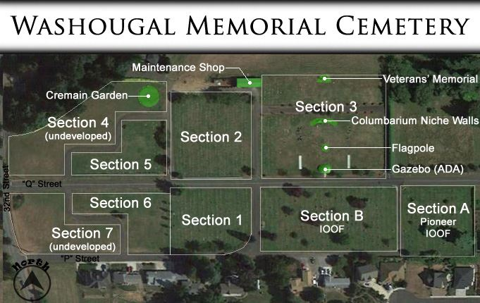 Memorial Cemetery Plot Map