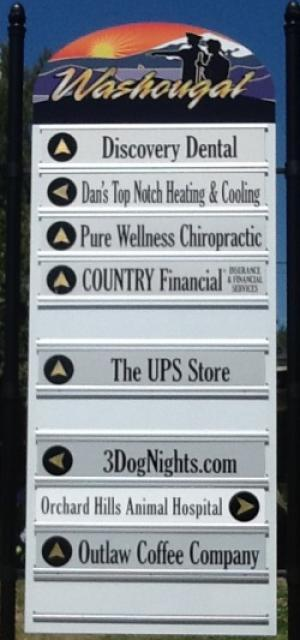 Washougal Business Directory Sign
